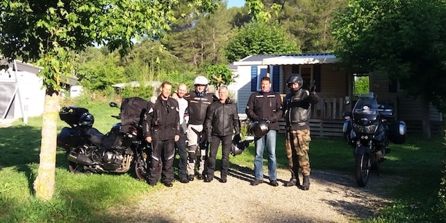 camping motards dans le verdon